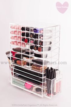 Spinning Makeup Tower WITH DRAWE (CLEAR)
