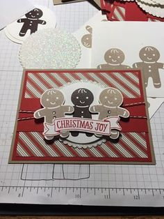 card christmas gingerbread man men cookie cutter SU Stampin´up