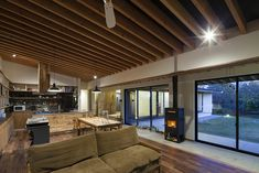 根來宏典建築研究所が手掛けた土間の広がる家 | homify Wood Burning Furnace, Outdoor Wood Furnace, Japanese Style House, House Rooms, Future House, Ideal Home, House Plans, New Homes, House Design