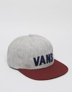 Vans Tag Unstructured Snapback In Grey VA2YRTKHL 731e6a12fc4