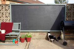 How to make an Outdoor Chalkboard, Garden Blackboard. Perfect DIY for summer.