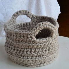 Crocheted basket pattern.