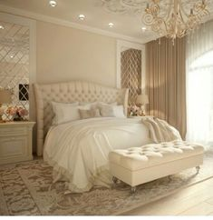 50 Luxury Bedroom Design Ideas that you Definitely want for your Dream Home - Bedroom Decoration - Luxury Bedroom Design, Master Bedroom Design, Interior Design, Master Suite, Design Interiors, Bedroom Designs, Luxury Decor, Bedroom Apartment, Home Bedroom