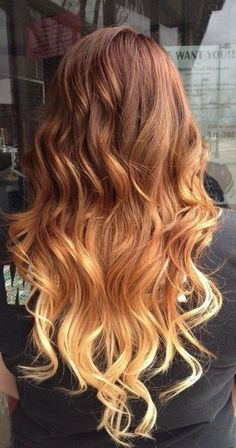 Dlugie włosy - ombre
