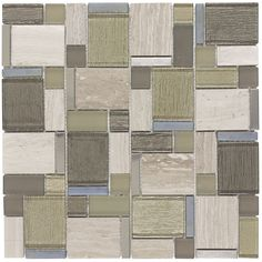 Shop Elida Ceramica Stone Cubes Mosaic Glass/Metal/Stone Marble Wall Tile (Common: 12-in x 12-in; Actual: 11.75-in x 11.75-in) at Lowes.com