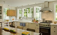 Used Farmhouse Kitchen Sink   classic, sunlit, eat-in farmhouse kitchen to be the center of the ...