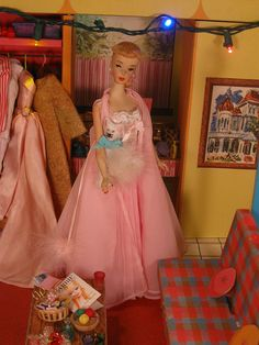 Barbie in the 1962 Dream House