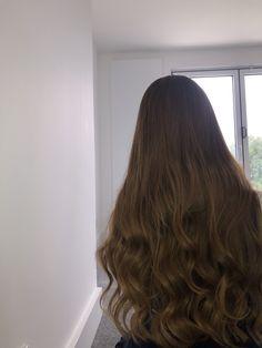 Brunette Aesthetic, Aesthetic Hair, Curly Balayage Hair, Wavy Hair, Waist Length Hair, Long Brown Hair, Deep Brown, Hair Color Dark, Hair Highlights