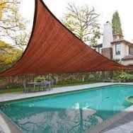 Image result for 18x18' Square Sun Shade Sail Patio Deck Beach Garden Outdoor Canopy Cover Uv Blocking Dark Red