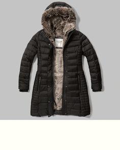 Womens - Faux-Fur Lined Puffer Parka | Womens - New Arrivals | Abercrombie.com