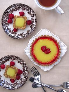 Lemon and Raspberry Tart  #sweets #desserts