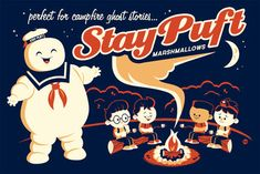 Stay Puft Marshmallows - Ghostbusters - Dave Perillo