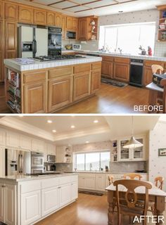 17 best kitchen cabinet refacing before and after images kitchen rh pinterest com