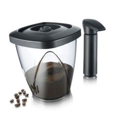 You can always have fresh coffee, crisp biscuits, cereal, and nuts with this innovative vacuum container.