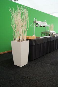 Witte Mitsumata, witte vaas