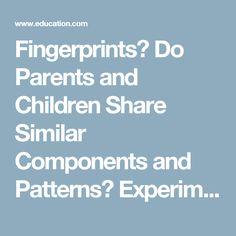 Fingerprints?  Do Parents and Children Share Similar Components and Patterns?  Experiment | Education.com