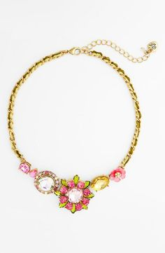 Wearing this Betsey Johnson necklace brings spring to every outfit.