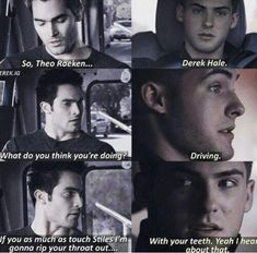 Pictures, little comics I found of Sterek (Stiles/Derek) Teen Wolf Memes, Teen Wolf Quotes, Teen Wolf Funny, Teen Wolf Boys, Teen Wolf Dylan, Teen Wolf Cast, Teen Wolf Werewolf, Cinema Quotes, Wolf World