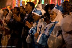 Coptic Christians from Eritrea and Ethiopia, Orthodox Christmas Celebration at the Church of the Nativity, West Bank town of Bethlehem January 6, 2012 via Flickr
