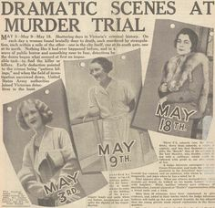 The three victims of Eddie Leonski, and American GI stationed in Victoria, Australia during WWII. L to R: Ivy Violet McLeod, Pauline Thompson, and Gladys Hosking. Newspaper Headlines, Newspaper Article, Serial Killers, Joseph, Melbourne, Crime, Victoria Australia, Shit Happens, History