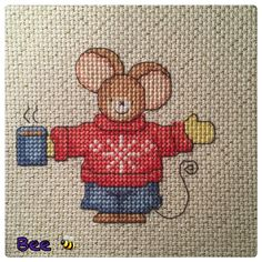 Furry Tales Christmas Jumper Mouse The World of Cross Stitching Issue 236 December 2015 Saved