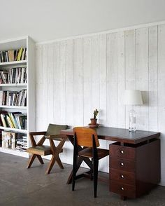 whitewashed wood paneling by claudette