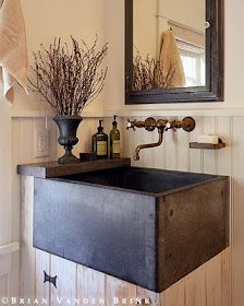I currently have a laundry room sink about this deep (and double the width), but like this smaller size better.  Love this! Very handy.