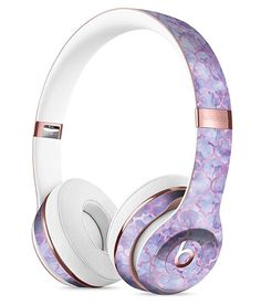 Purple Watercolor Quatrefoil DesignSkinz Full-Body Skin Kit for The Beats by Dre Solo 3 Wireless Headphones/Ultra-Thin/Matte Finished/Protective Skin Wrap Crown Headphones, Cute Headphones, Sports Headphones, Bluetooth Headphones, Beats By Dre, Spiked Leather Jacket, Diy Pop Socket, Accessoires Iphone, Gaming Headset