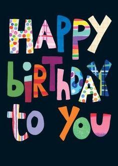 Happy Birthday - black & multi color