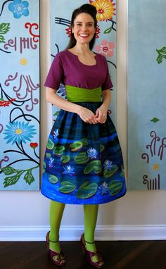 Cassie Stephens: DIY: A Waterlilies Dress (and Jacket Refurb!) after Monet