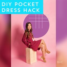 Watch this easy style DIY hack video tutorial to learn how to add pockets to all of your dresses.