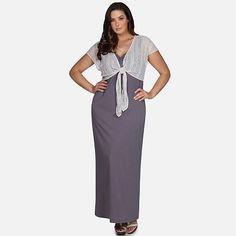 daisy fuentes® Maxi Dress & Shrug Set - Women's Plus