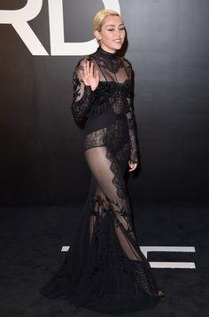 Miley Cyrus- Tom Ford Autumn/Winter 2015 Womenswear Collection Presentation..Milk Studios, Hollywood, California..February 20, 2015.