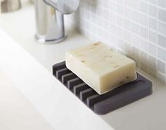 Designate a place for your MIA soap with a chic soap tray. | 23 Cheap Ways To Be More Organized ASAP