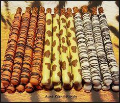 Gourmet Chocolate Covered Wild Safari Pretzel by AuntKeensKandy