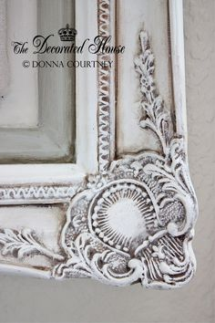 The Decorated House: ~ Antiqued Old White Chalk Paint With Paris Grey Accents