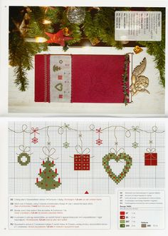 "cross stitch ""Weinachtszauber"" 115 Rico design with colour key"