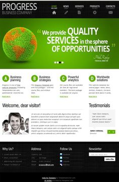 Free html website templates for business template with typography free html website templates for business template with typography and jquery slider monsterpost home design idea pinterest jquery slider pronofoot35fo Images