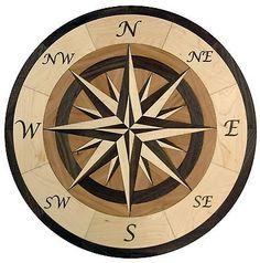 24-Hardwood-Flooring-Compass-Medallion-Inlay-100-Piece-kit-DIY-Floor-Table-Box