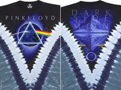 Pink Floyd - Dark Side The Moon Tie Dye V T Shirt – Blue Mountain Tie Dye