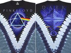 Pink Floyd - Dark Side The Moon Tie Dye V T Shirt – Blue Mountain Tie Dye