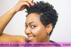 How to do Finger Coils on Natural Hair and Rock a Coil out with a Tapere...
