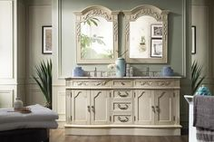 "Amalfi 72"" James Martin Vintage Vanilla Bathroom Vanity Double Sink"