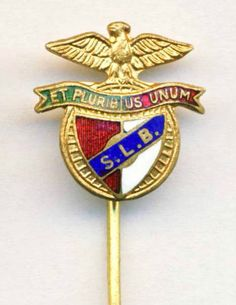 old S.L. BENFICA Lisbon PIN Badge FOOTBALL SOCCER Club PORTUGAL Futebol