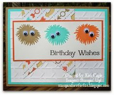 Stamp and Sew For Fun - Simple Stems Monster Cards, Stampin' Up!