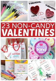 23 Cute Non-Candy Valentine Ideas for Kids - at B-Inspired Mama