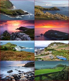 "Cape Cornwall (Cornish: Kilgoodh Ust, meaning ""goose back of St Just"") is a small headland in Cornwall, England, UK. It is four miles north of Land's End near the town of St Just. A cape is the point of land where two bodies of water meet and until the first Ordnance Survey, 200 years ago, it was thought that Cape Cornwall was the most westerly point in Cornwall. Most of the headland is owned by the National Trust. There is also a National Coastwatch look out on the seaward side. The only…"