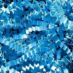 Custom and Unique {12 Ounces} of Crinkle Cut Shredded Gift Basket Filler Paper Made From Cardstock w/ Cool Light Frozen Winter Sky Tone Basic Decorative Crimped Grass Strand Design (Bright Blue) *** You can get additional details at the image link.
