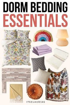 WOW these are the best dorm bedding ideas I've ever seen! My friends will be impressed because these are the cutest and most affordable dorm bedding sets. College Dorm Rooms, College Dorm Bedding, College Hacks, Dorm Bedding Sets, Bedroom Decor On A Budget, Dorm Room Organization, Dorm Essentials, Room Ideas, Daughter