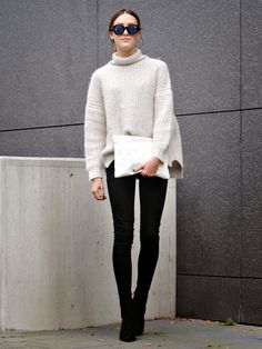 White turtle neck jumper wouldn't hurt either!  knit from zara